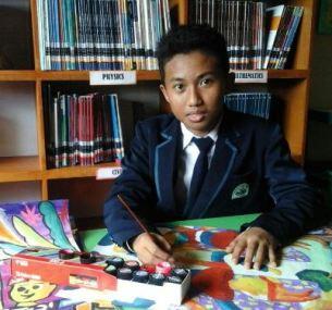 Qaroba Abiyasa, Siswa kelas VII SMP Unggulan AL-YA'LU memperoleh penghargaan internasional karya lukis anak